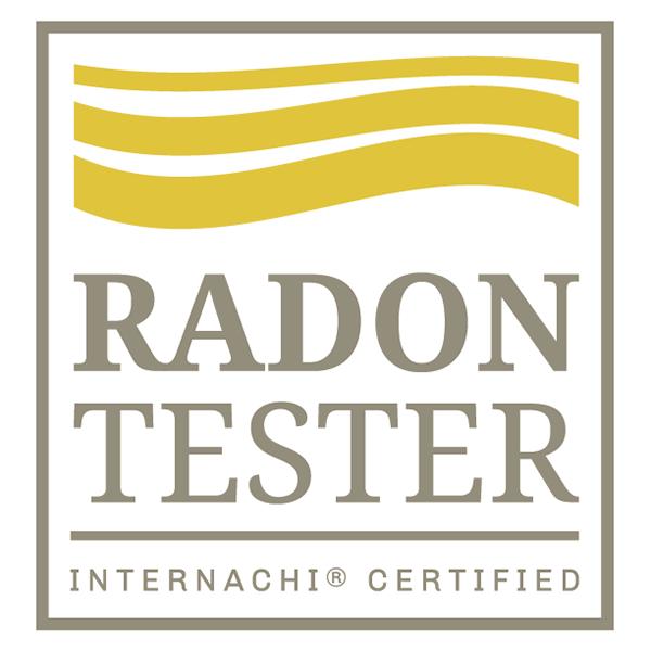 Certified radon tester logo