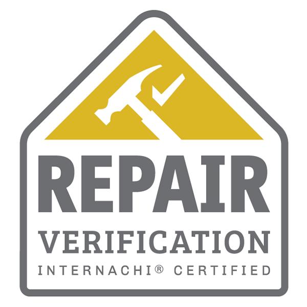 Certified repair verification inspector logo