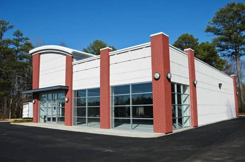 Exterior of a commercial property